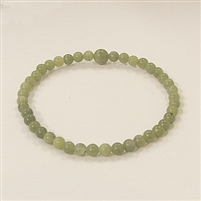 CRB208-4mm STONE BRACELET IN SOUTH CHINA JADE