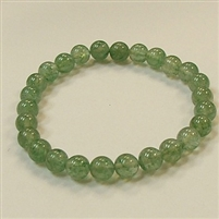 CRB248 STONE BRACELET IN GREEN STRAWBERRY