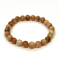 CRB512-8mm STONE BRACELET IN RAINBOW SUNSTONE