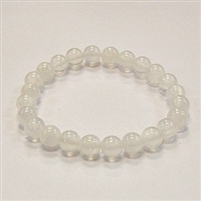CRB514-8mm STONE BRACELET IN SELENITE