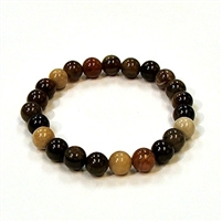 CRB520-8mm STONE BRACELET IN PETRIFIED JASPER