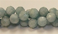 G03-10mm AQUAMARINE FACETED BEADS