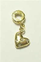 GOLD COLOR HEAR CHARM