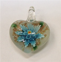 GP1-07-03 GLASS PENDANT HEART SHAPE