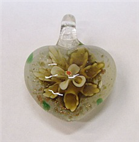 GP1-07-05 GLASS PENDANT HEART SHAPE