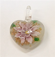 GP1-07-06 GLASS PENDANT HEART SHAPE