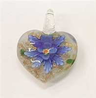 GP1-07-07 GLASS PENDANT HEART SHAPE