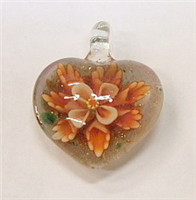 GP1-07-08 GLASS PENDANT HEART SHAPE
