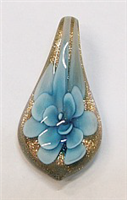 GP11-01-04 GLASS PENDANT WITH FLOWER