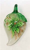 GP11-02-04 GLASS PENDANT IN LEAF DESIGN