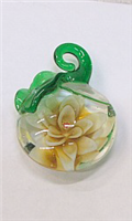 GP11-02-08 GLASS PENDANT WITH FLOWER