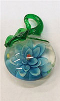 GP11-02-07 GLASS PENDANT WITH FLOWER