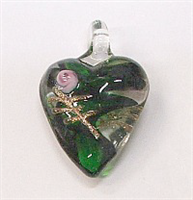 GP14-01 SMALLL GLASS PENDANT HEART SHAPE