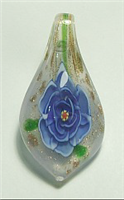 GP15-05 GLASS PENDANT WITH BLUE FLOWER