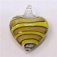 GP3-07 GLASS PENDANT IN HEART SHAPE