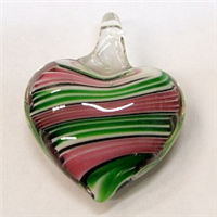 GP3-08 GLASS PENDANT IN HEART SHAPE