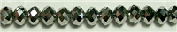 MCS-02-8mm SILVER CRYSTAL METALLIC RONDELL BEADS