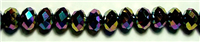 MCS-07-10mm RAINBOW CRYSTAL METALLIC RONDELL BEADS