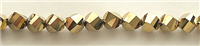 MTCS-8mm GOLD CRYSTAL METALLIC TWISTED BEADS