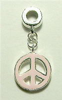 PEACE CHARM LIGHT PINK