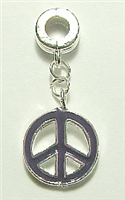 PEACE CHARM PURPLE