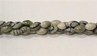 PO2-17 BLACK PICASSO JASPER RICE BEADS
