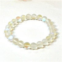 QCRB524-01-8mm CLEAR MERMAID GLASS BRACLETS IN MATTE FINISH
