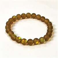 QCRB524-06-8mm COFFEE MERMAID GLASS BRACELET IN MATTE FINISH