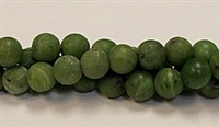 QRB121-10mm CANADA JADE MATTE FINISH BEADS