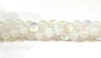 QRB524-01-6mm CLEAR MERMAID GLASS BEADS MATTE FINISH