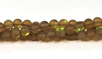 QRB524-06-6mm COFFEE MERMAID GLASS BEADS IN MATTE FINISH