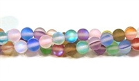 QRB524-09-6mm 7 COLORS MERMAID GLASS BEADS IN MATTE FINISH
