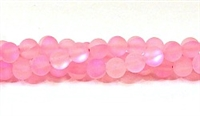 QRB524-10-10-6mm PINK MERMAID GLASS BEADS IN MATTE FINISH