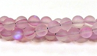 QRB524-12-8mm LT PURPLE MERMAID GLASS BEADS IN MATTE FINISH