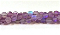 QRB524-13-6mm PURPLE MERMAID GLASS BEADS IN MATTE FINISH