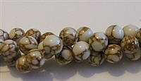 R02-08mm GOLDEN PINE JASPER