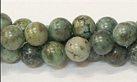 R04-10mm AFRICAN TURQUOISE BEADS