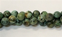 R04-08mm AFRICAN TURQUOISE BEADS