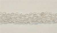R10-06mm CLEAR QUARTZ BEADS