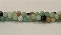 R14-04mm BLACK AND GOLD AMAZONITE