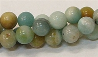 R14-10mm BLACK AND GOLD AMAZONITE