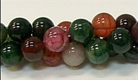 R20-10mm TOURMALINE COLOR AGATE