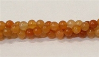 R30-04mm RED AVENTURINE BEADS