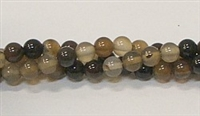 R31-06mm COFFEE AGATE BEADS