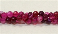 R33-06mm RED ROSE AGATE BEADS