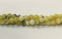R37-04mm YELLOW GRASS JASPER BEADS