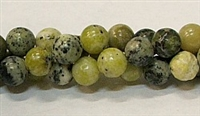 R37-08mm YELLOW GRASS JASPER BEADS