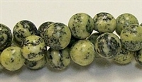 R37-10mm YELLOW GRASS JASPER BEADS
