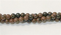 R39-04mm MAHOGANY BEADS