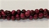 R64-06mm BURGUNDY TIGER EYE BEADS
